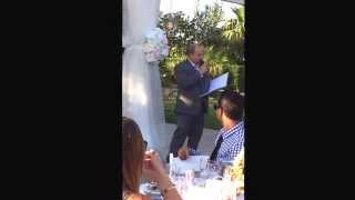 Father of the Bride speech by Wayne Pinnell. Stephanie Pinnell/Bryan Louzil wedding. 6/8/14