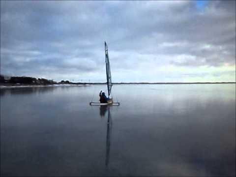 Isbåd på Ringkøbing Fjord