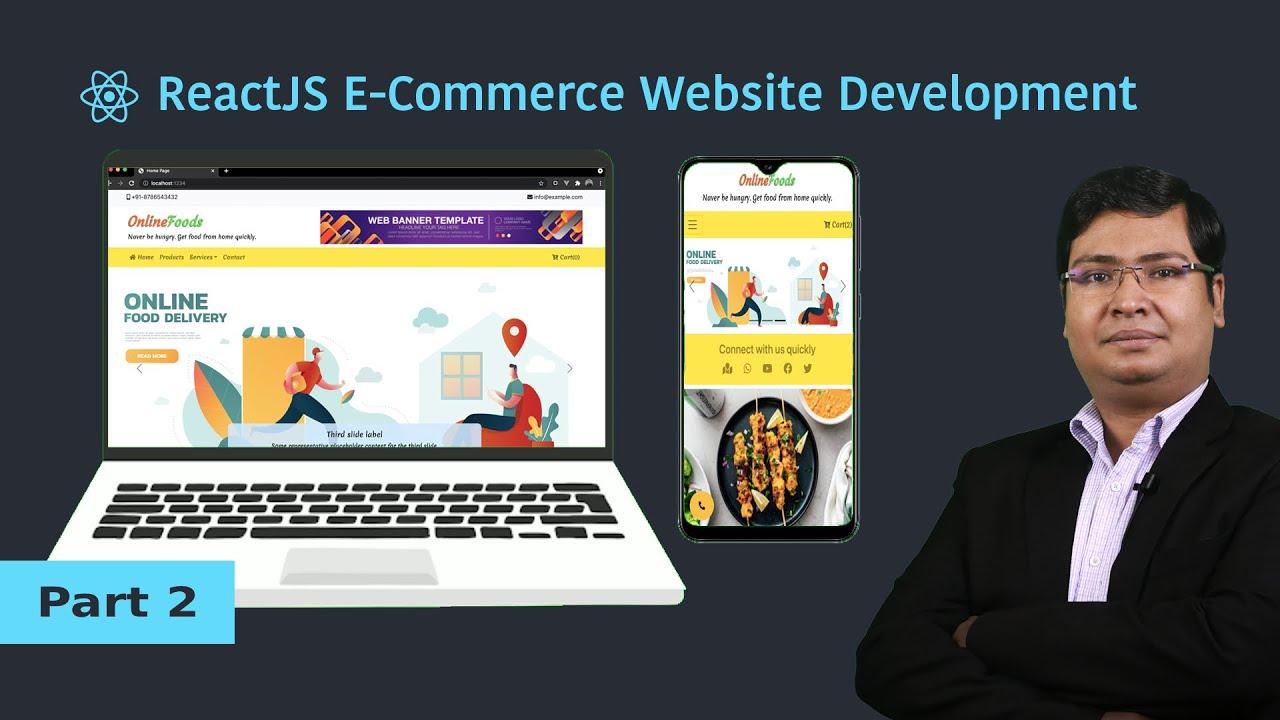 ReactJS Tutorial   Part 2   Ecommerce Project Design   Header and Navbar Components Design [Hindi]