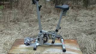 Homemade Exercise Bike Generator, made from Free Junk