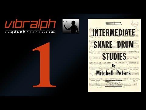 Vibralph - Intermediate snare drum studies Ex  I and II