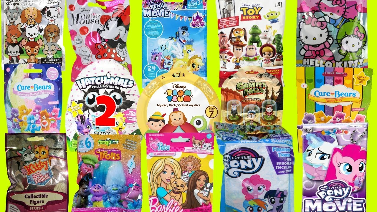 Blind Bags Opening Toys Care Bears Toy Story Hello Kitty