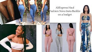 ALIEXPRESS HAUL| How to be a Fashion Nova Insta Baddie on a Budget