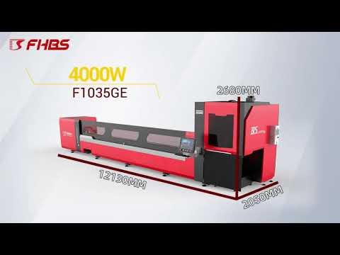 F1035GE - Baisheng Laser - 10 metros - Laser Fibra para Corte de Tubos Pesados e Perfis Estruturais
