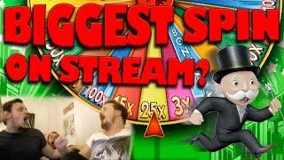 Super monopoly money! HUGE SPIN
