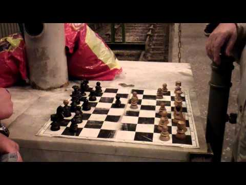 Chess in a train station