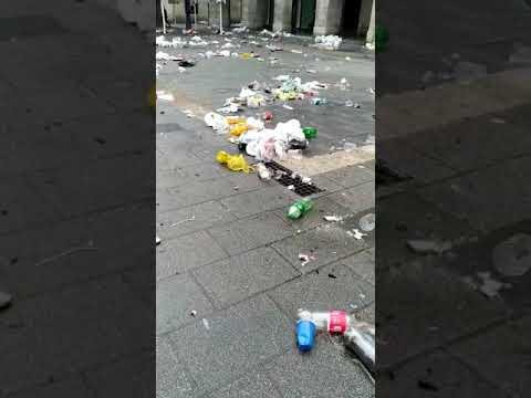 Los restos de la Nochevieja en Santander