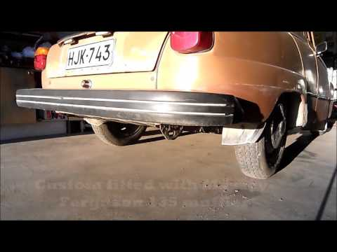 Saab 96 1.5L V4 Exhaust Comparison  - Original & Straight Pipe & Ferguson Muffler