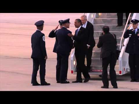 President Obama Lands at Nellis Air Force Base - Obama in Nevada