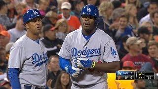 LAD@SF: Dodgers notch five triples vs. the Giants