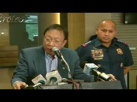 DUTERTE NEWS:Solicitor General Jose Calida, PNP Chief Dela Rosa Press Conference 1/3
