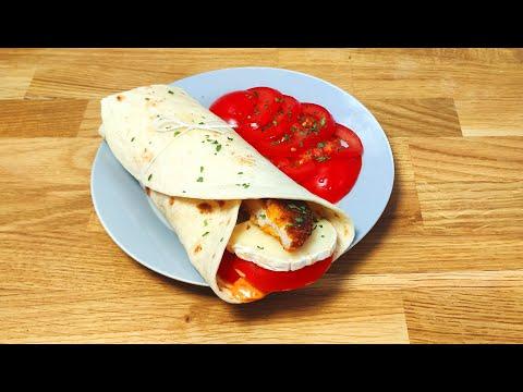 wrap-poulet-frie-chèvre-et-tomate