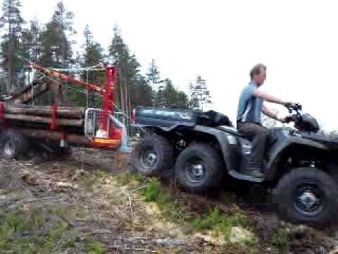 quad polaris forestiers 6x6 800