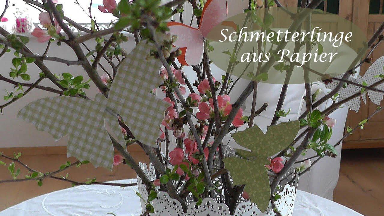 Diy  Frühlingsdeko Selber Machen Schmetterlinge Aus