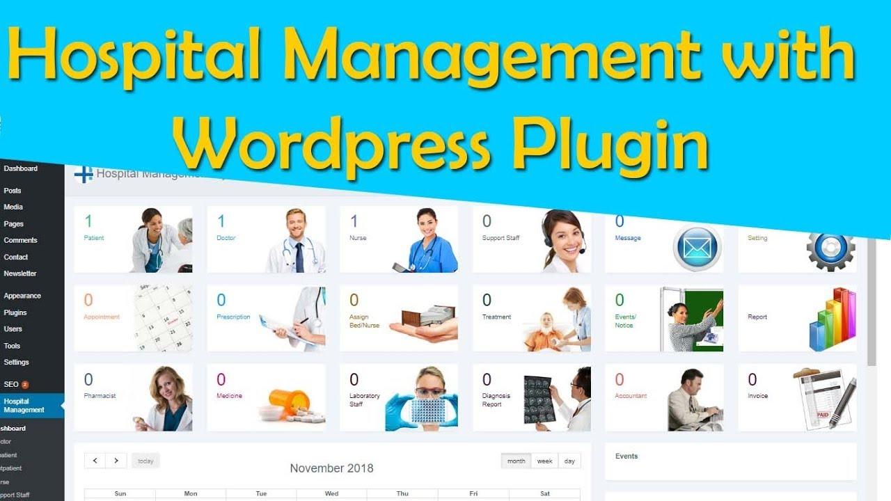 Hospital Management System With Wordpress Plugin