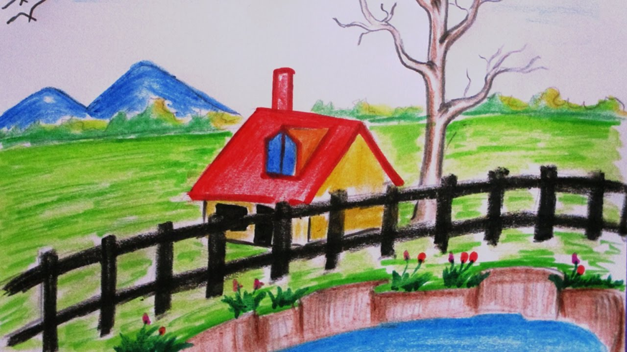 Simple And Easy Scenery Drawing Novocom Top Any age children from toddlers to older children. simple and easy scenery drawing