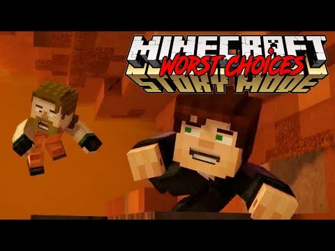 KILLING OFF JACK! -- WORST CHOICES IN MINECRAFT STORY MODE SEASON 2 EPISODE 4 (1)