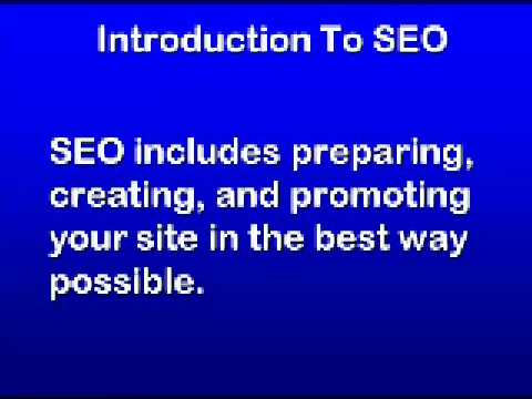 Seo Education 101 Part 1 - Introduction To Seo And the 27 Part Course