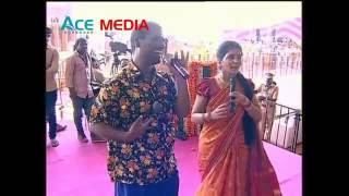 Bithiri Sathi Singing Song at PM Programme Gajwel