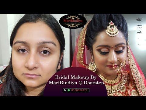 Bridal Makeup @ Doorstep By Meribindiya Team ...Any Enquiry plz call Meribindiya @ 8130520472