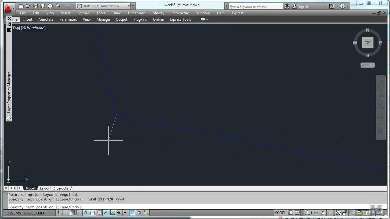 AutoCad 11 - Plotting surveying data for a lot - YouTube