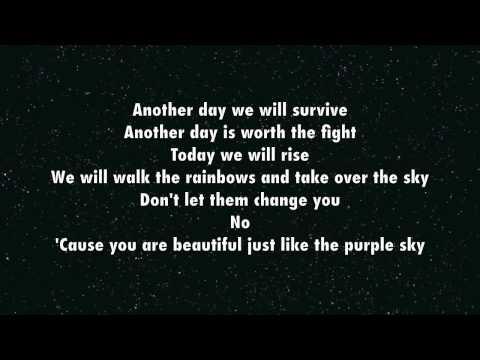 Purple Sky - Greyson Chance (lyrics)