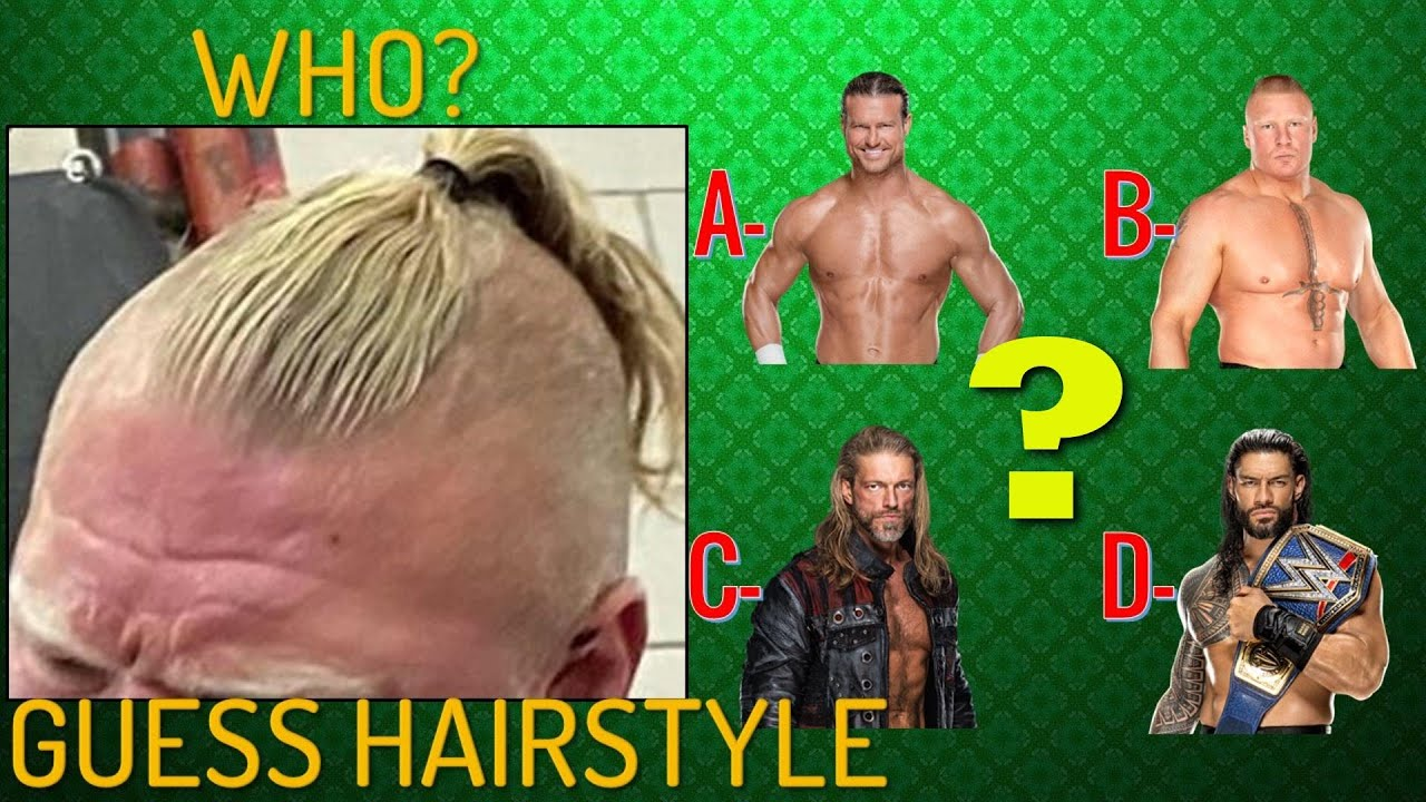 Can You Guess WWE Superstars Hairstyle 2021? | 99% Fail | WWE QUIZ 2021