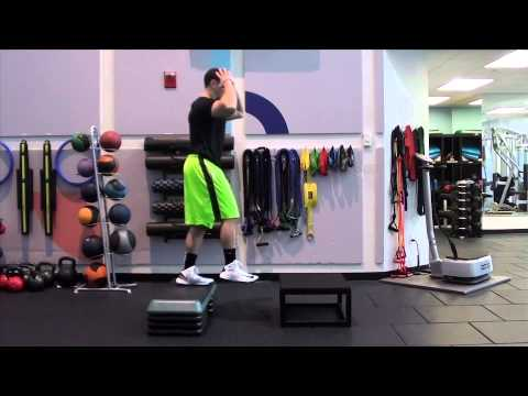plyo Depth Drop with Double Tap Box Jump - YouTube
