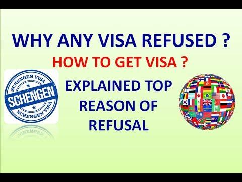 SCHENGEN VISA REFUSAL REASON  WHY VISA REFUSED IN MOST CASES
