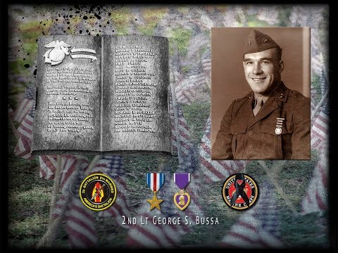 After 74 years 2nd Lt. George Stanley Bussa Tarawa Marine, Silver Star, Returns Home