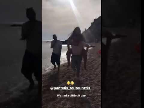 Ελένη Φουρέιρα: Στην παραλία την ημέρα της γιορτής της