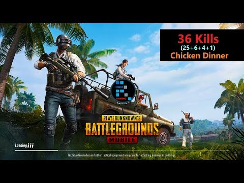 [Hindi] PUBG Mobile | '36 Kills' In Squad Match Winner Winner Chicken Dinner