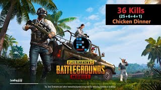 "[Hindi] PUBG Mobile | ""36 Kills"" In Squad Match Winner Winner Chicken Dinner"