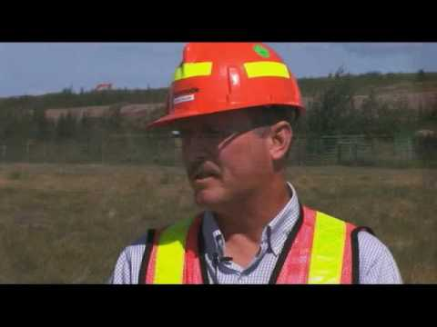 Syncrude Oil Sands Production in Alberta, Canada