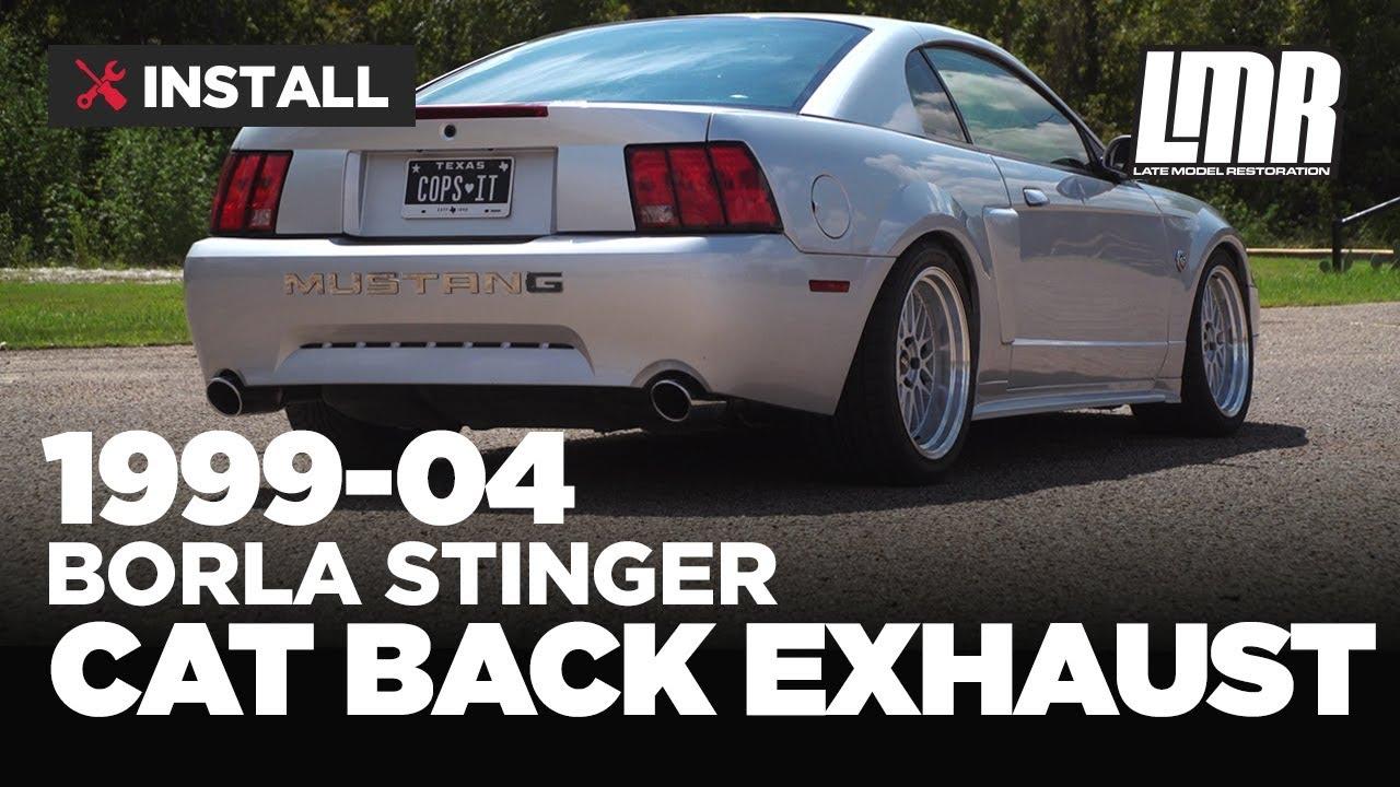 1999 04 mustang borla catback exhaust stinger mufflers by borla exhaust