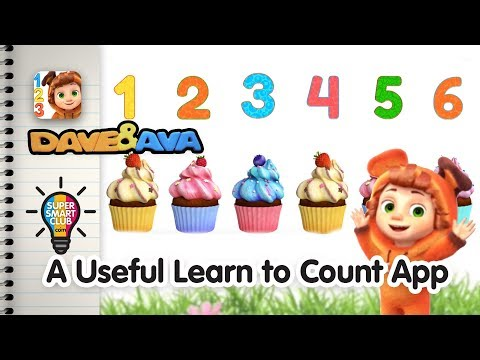 Write Numbers 1-20 & Count with Dave and Ava App for Kids