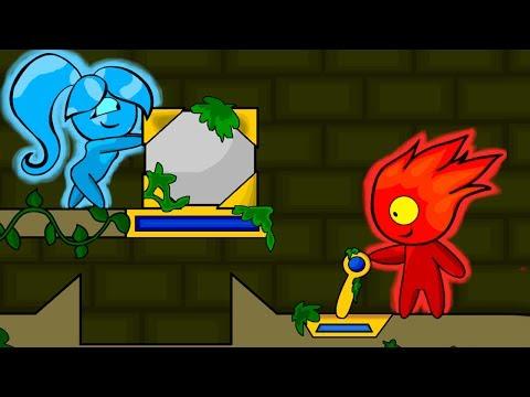 Игра для двоих ПРИКЛЮЧЕНИЯ ОГОНЬ И ВОДА в Лесном Храме #5