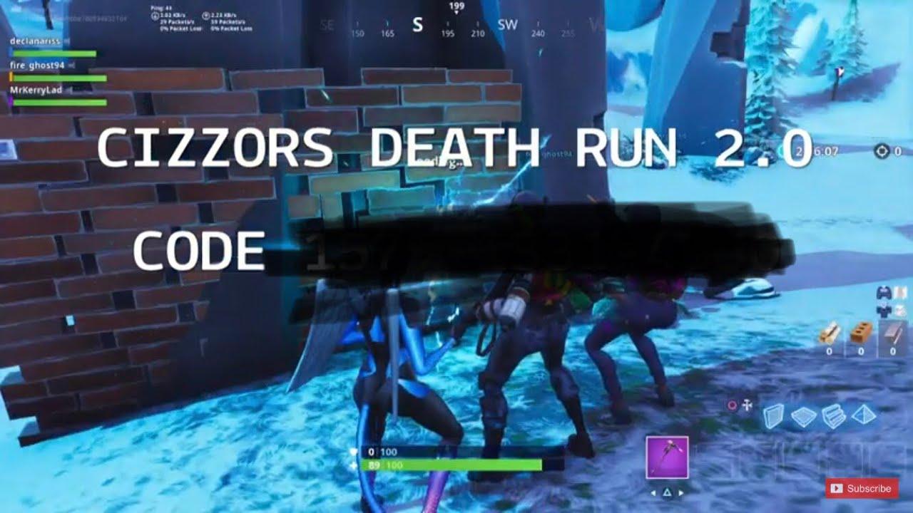 cizzors deathrun 2 0 code leaked fortnite battle royale - deathrun codes in fortnite battle royale