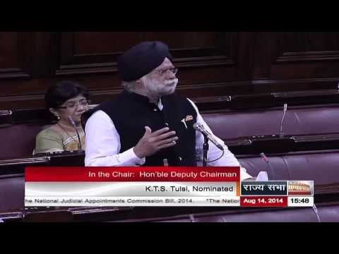Remarks of Sh. K T S Tulsi on The National Judicial Appointments Commission Bill, 2014