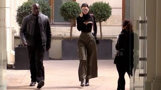 EXCLUSIVE: Kendall Jenner goes to Givenchy fitting in Paris