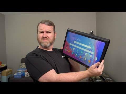 """ENORMOUS 17"""" Android Tablet! Samsung Galaxy View2 Unboxing and Hands On"""
