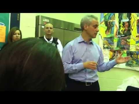Did Rahm Emanuel scream at mental health advocates?