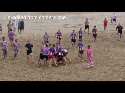 Beach Rugby Chaos Swansea Bay.