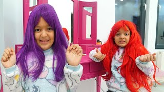 Masal do hairstyles and dye their hair - funny kids