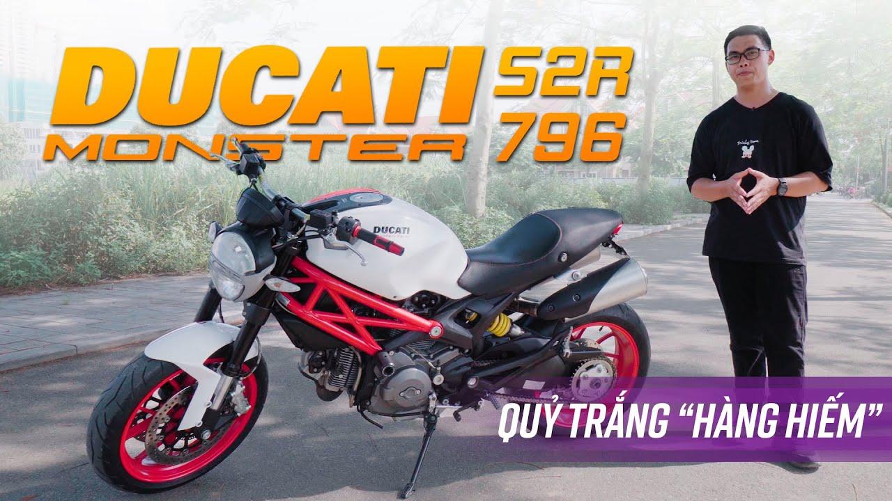 """Ducati Monster 796 S2R: """"Quỷ trắng"""" hàng hiếm sau 5 năm còn gì hấp dẫn?"""