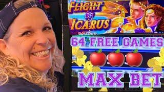 🚨🍎☘️64 FREE GAMES-FLIGHT OF ICARUS🚨🍎☘️KICKAPOO LUCKY EAGLE CASINO