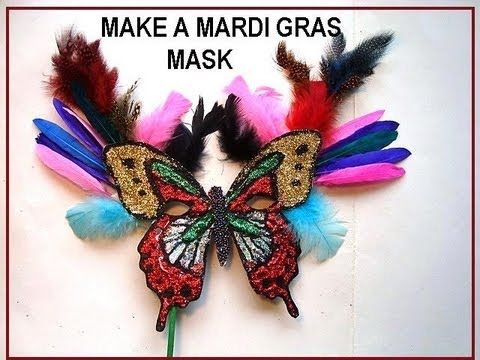 MARDI GRAS MASK, diy, how to make a handmade carnival mask ...