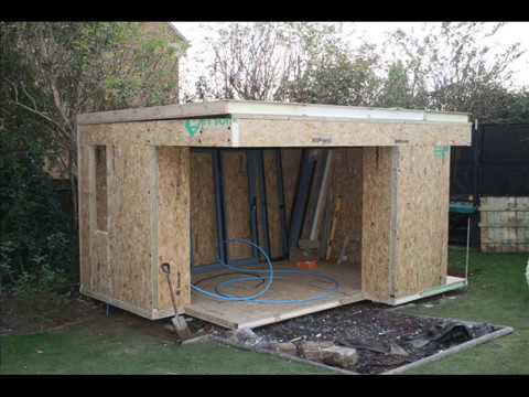 home office garden studio extension building in the