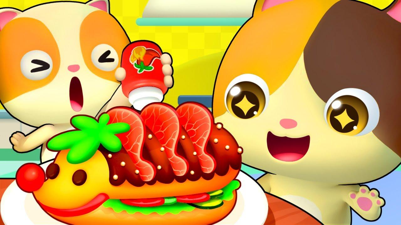 おいしいサンドイッチ作ってみよう! | ごっこ遊び | 子ども向け安全教育 | 赤ちゃんが喜ぶ歌 | 子供の歌 | 童謡 | アニメ | 動画 | ベビーバス| BabyBus