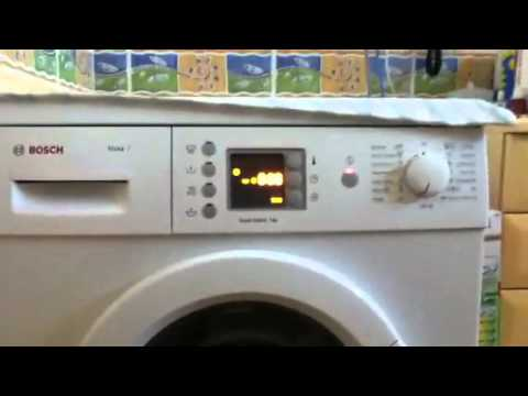 Fabulous Bosch maxx7 service mode - YouTube DH92
